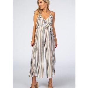 PinkBlush wide leg striped jumpsuit nwot